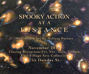 Spooky Action At A Distance Art Show